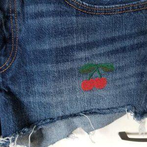 Levi's Blue Vintage Cherry Denim Shorts